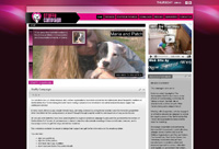 Web Design New Forest Staffy Campaign web site design and development by New Forest Web joomla web site